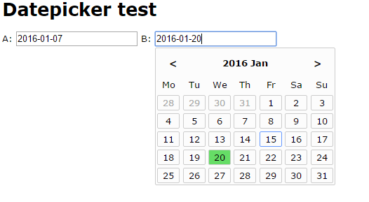 JavaScript date picker from scratch